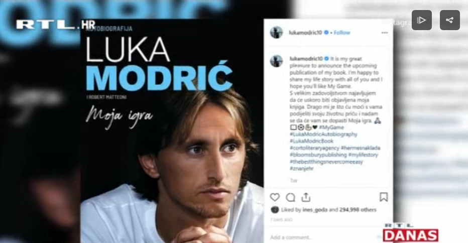 Photo of VIDEO Uskoro izlazi autobiografija Luke Modrića!