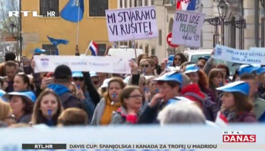 Photo of VIDEO Veliki prosvjed nastavnika danas na Trgu bana Jelačića!