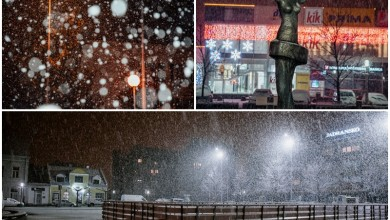 Photo of FOTO/VIDEO Prvi snijeg ove zime zabijelio je Gospić!