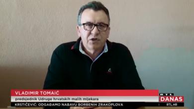 Photo of VIDEO Predsjednik Udruge hrvatskih malih mljekara Tomaić: Ove mjere su kratkoročne, ali dobrodošle