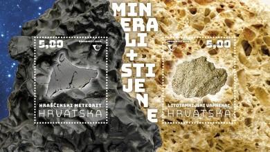 Photo of Hrašćinski meteorit i litotamnijski vapnenac motivi novog prigodnog poštanskog bloka