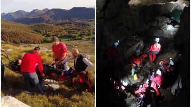 Photo of HGSS GOSPIĆ Kod Baških Oštarija spasili planinarku, u Kosinju sudjelovali na vježbi