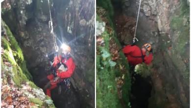 Photo of FOTO HGSS spasio psa iz speleološkog objekta kod Brinja