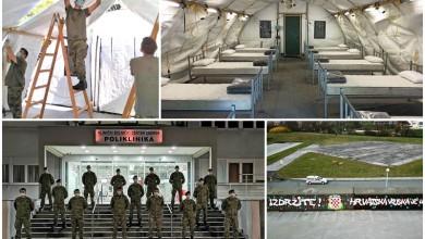Photo of FOTO Hrvatska vojska izgradila ukupno 51 šator kod zdravstvenih ustanova