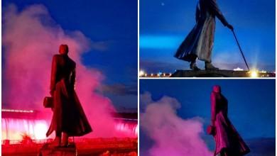 Photo of KAKAV PRIZOR Ovako izgleda Teslin kip na Niagari noću