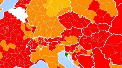 Photo of Svjetska korona karta: Istra je jedina zelena regija, Lika i dalje crvena