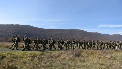 Photo of Buduće vođe Hrvatske vojske na završnoj hodnji od Udbine do Knina