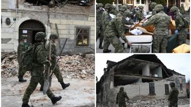"""Photo of FOTO Hrvatska vojska pomaže Petrinji i Sisku: """"Tu su, spremni su i čuvaju vas"""""""