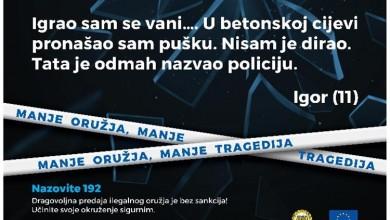 """Photo of Modernizirana kampanja """"MANJE ORUŽJA, MANJE TRAGEDIJA"""" u sklopu Fonda za unutarnju sigurnost Europske unije"""