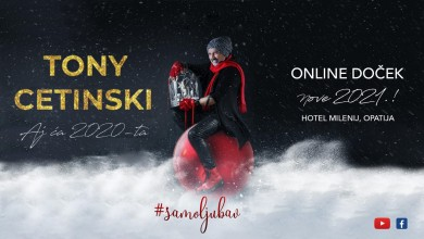 "Photo of ""AJ ĆA 2020."" – online doček nove 2021. uz Tonyja Cetinskog!"