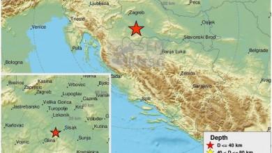 Photo of Potres snage 5,3 zatresao Petrinju i središnju Hrvatsku