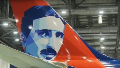 Photo of Novi avion s likom Nikole Tesle stigao u beogradsku zračnu luku