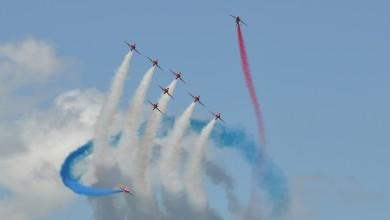 Photo of FOTO/VIDEO Britanska akrobatska skupina Red Arrows sletjela u Zemunik