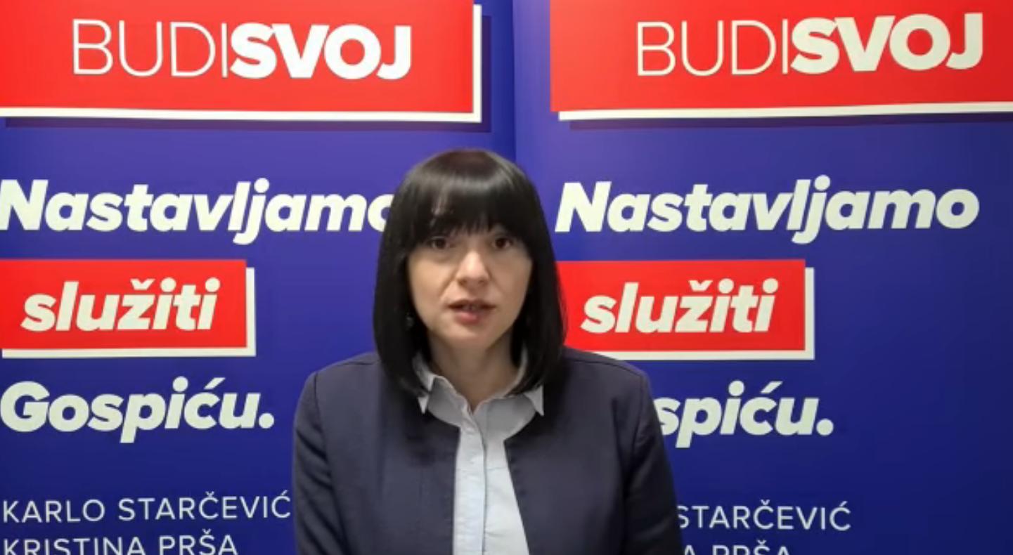 Prša kandidatu Šimuniću snimila video lekciju o Proračunu Gospića, on se uvrijedio