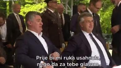 """Photo of VIDEO  Šprajc o susretu Milanovića i Plenkovića: """"Bio je to susret silom prilika, kao kad moraš na WC pa ne možeš birati školjku"""""""