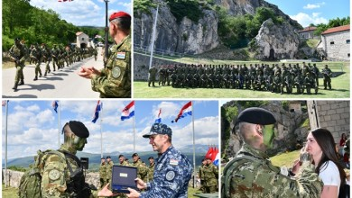 Photo of FOTO Nakon hodnje iz Udbine, u Kninu završena obuka budućih vođa Hrvatske vojske