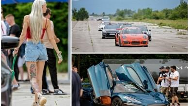 """Photo of SPEKTAKL NA ŽELJAVI Posjetili smo """"Pink Wing"""" – karavanu luksuznih automobila na vojnom aerodromu u Lici!"""