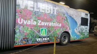 Photo of RAZGLEDNICA NA KOTAČIMA Autobus u Rijeci oslikan ljepotama Velebita!