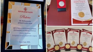 Photo of OCJENJIVANJE KVALITETE Zlatne medalje za ličko-senjske proizvođače na Novosadskom sajmu!